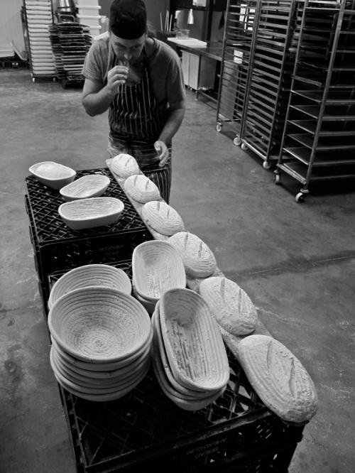 Justin scoring loaves. Source: Spitafields Life