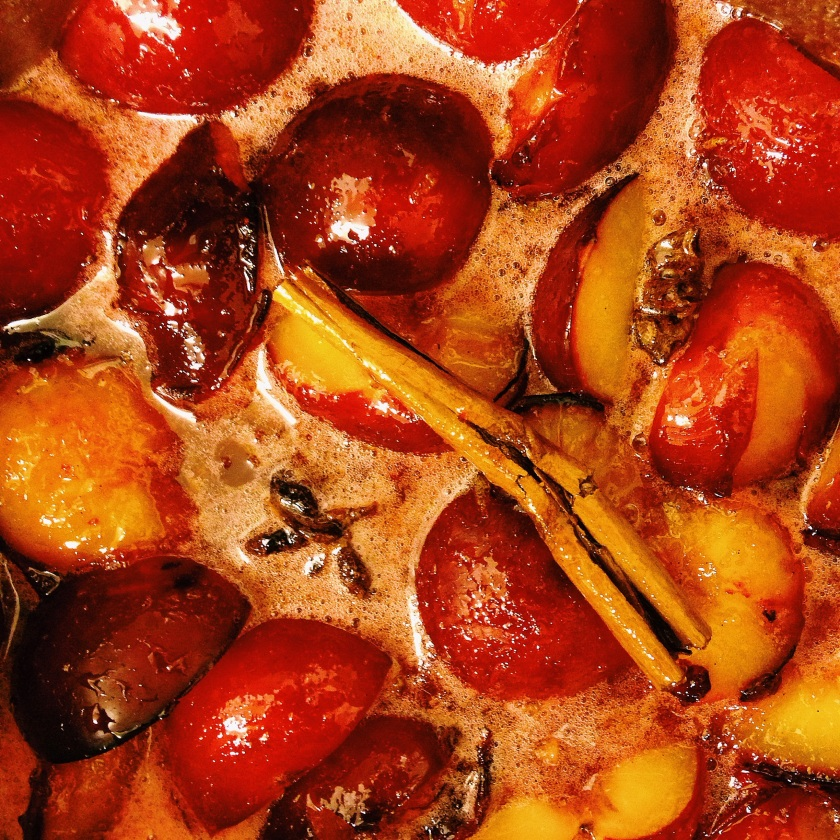 Spiced plum jam as the sugar is just dissolving. Source: DWD.